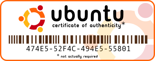 Ubuntu Certificate of Authenticity