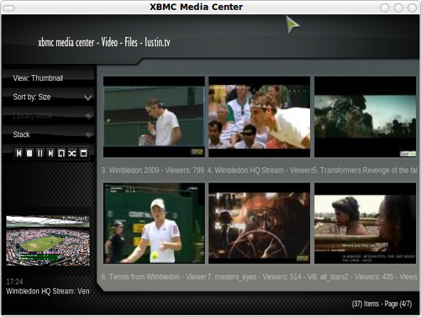 XBMC and Justin.tv