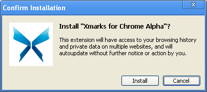 Installing Chrome add-on