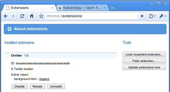 Chromium Extension Manager