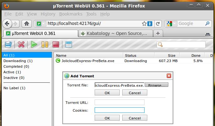 Webui Utorrent