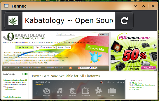 Firefox for Maemo 1.0 RC 2