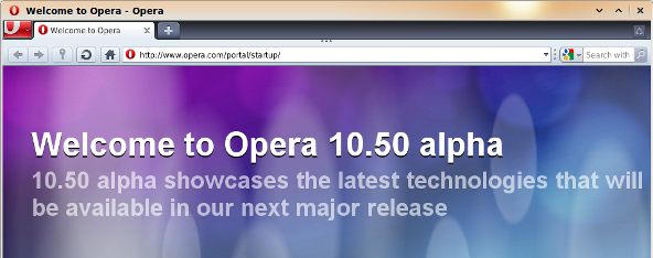 Opera 10.50 Alpha for Unix