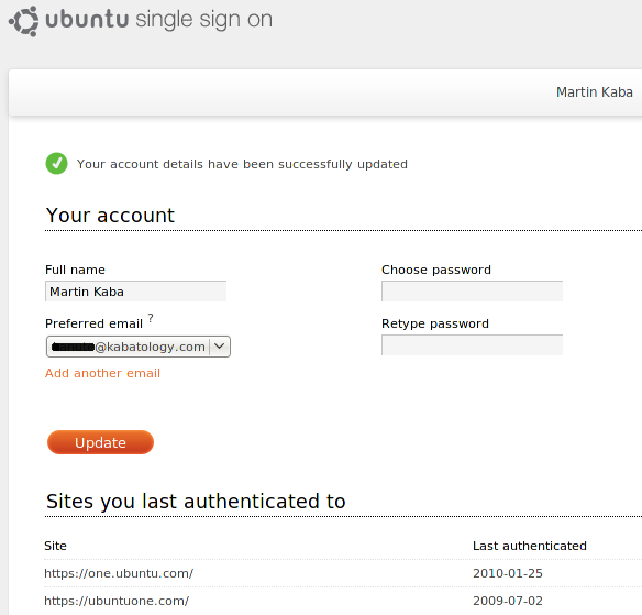 Ubuntu Single Sign on Service