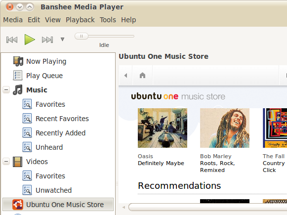 Ubuntu One Music Store for Banshee