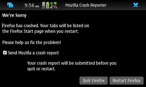 Mozilla Crash Reporter for Firefox Mobile