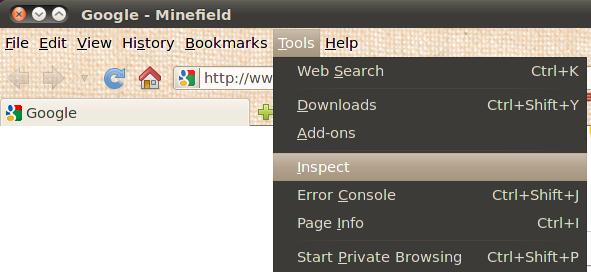 Firefox Web Inspector