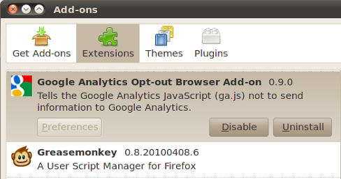 Google Analytics Opt-out add-on