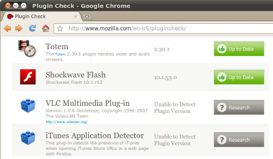 Mozilla Plug-in Check