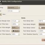 Notify OSD Configuration