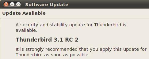 Thunderbird 3.1 RC2