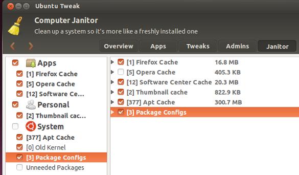 Ubuntu Tweak Janitor