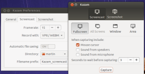 Kazam Screen Recording