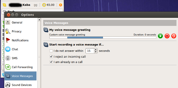 Skype for Linux - Voice Message